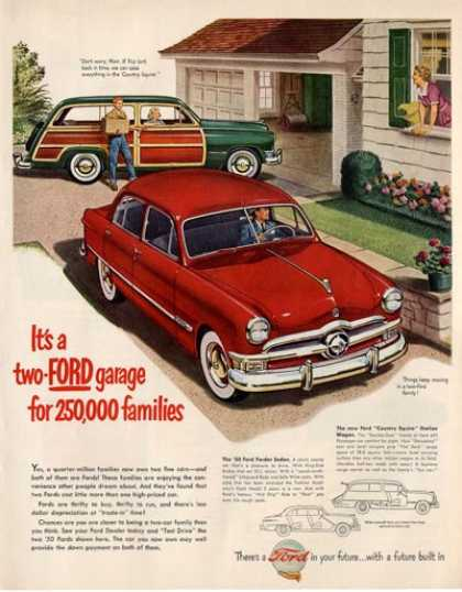 Ford Woody Country Squire & Sedan (1950)