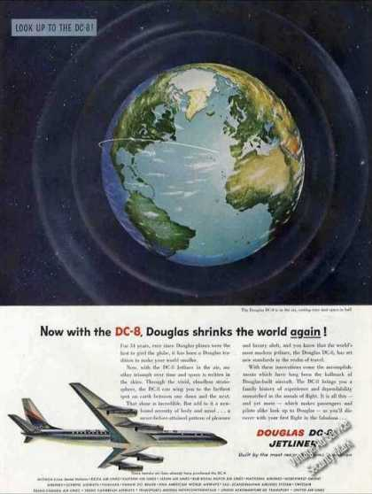 Douglas Shrinks the World Again! Dc-8 Jetliner (1958)