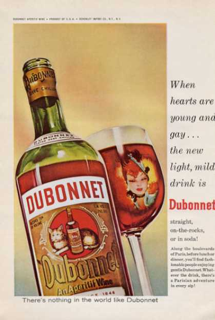 Dubonnet Aperitif Wine Bottle (1965)