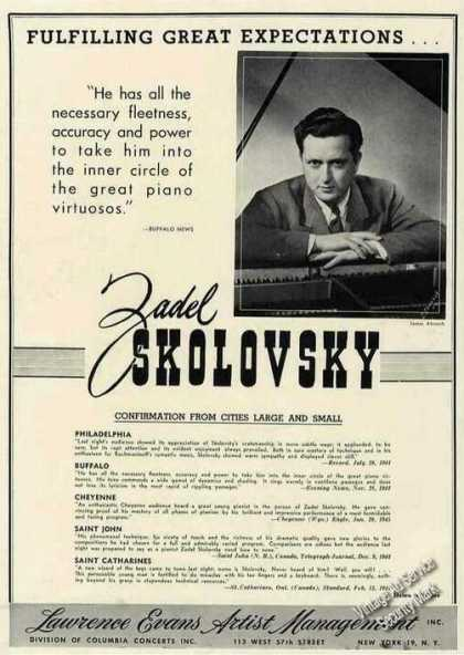 Zadel Skolovsky Photo Piano Trade (1945)