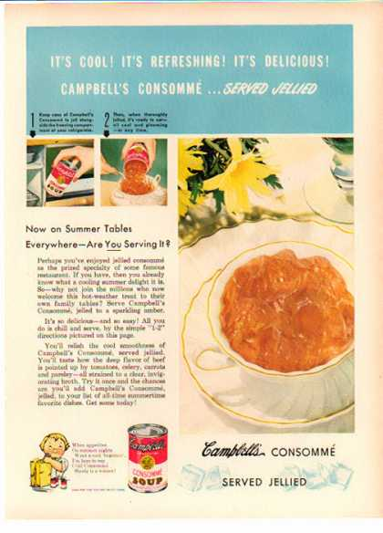 Campbell's Soup – It's cool! It's refreshing! It's Delicious (1949)