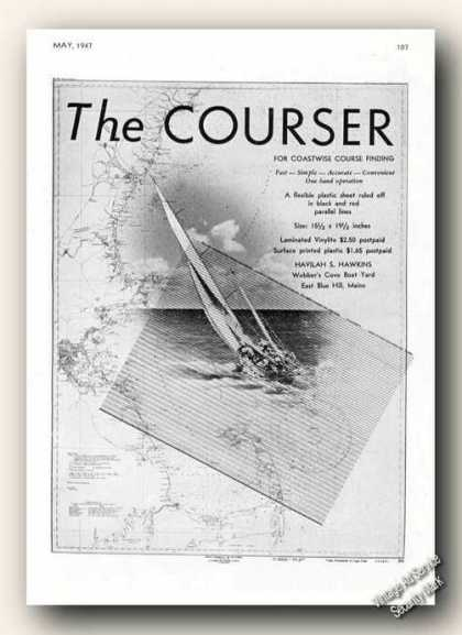 The Courser Navigation Aid Antique Boat (1947)