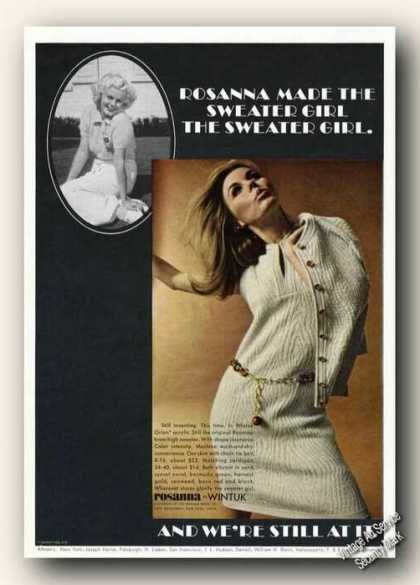 Rosanna Sweater Girl Advertising Rare (1967)