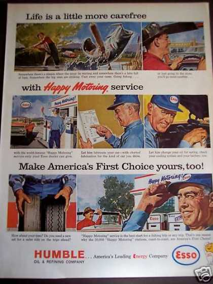 Happy Motoring Gas Stations Esso (1963)