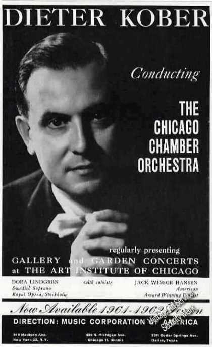 Dieter Kober Photo Chicago Chamber Orchestra (1961)