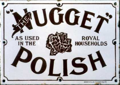 Nugget Boot Polish Sign