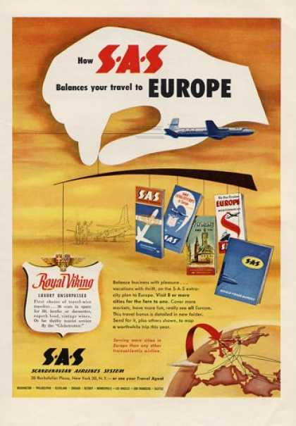 Sas Scandinavian Airlines Europe Viking (1953)