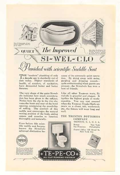 Te-Pe-Co Si-wel-clo Saddle Seat Toilet (1928)