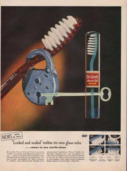 Dr West Miracle Tuft Toothbrush (1951)
