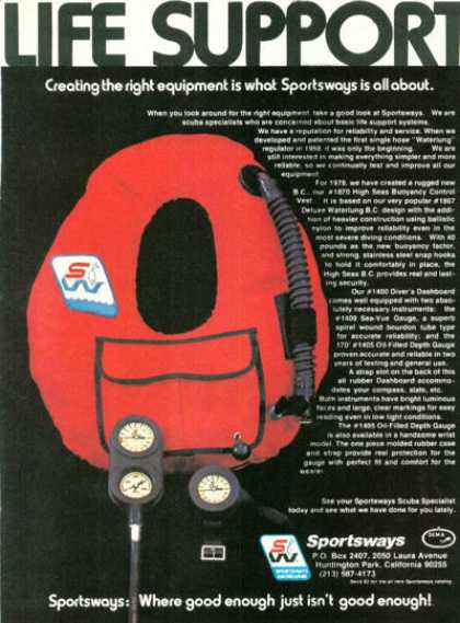 '78 Sportsways Buoyancy Control Water Lung Ad T (1978)