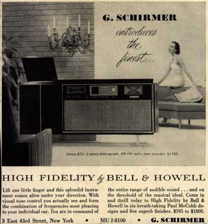 G. Schirmer's high fidelity radio – G. Schirmer introduces the finest... (1956)