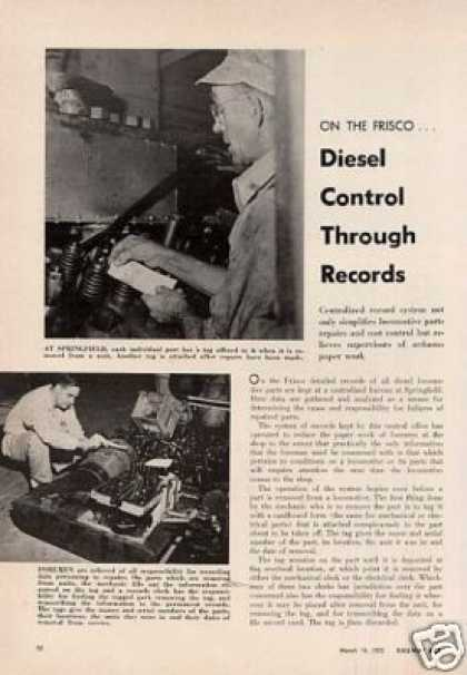 """Diesel Control Through Records"" Article/sl-sf (1955)"
