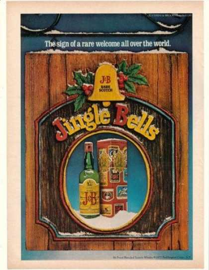 J&B Scotch Jingle Bells Sign of Rare Welcome (1977)