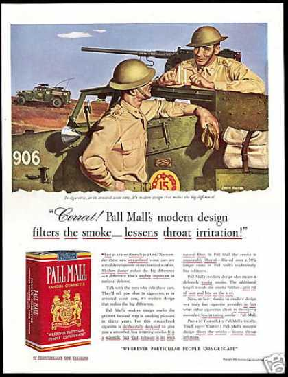 U.S Army Scout Car Falter Pall Mall Cigarettes (1941)