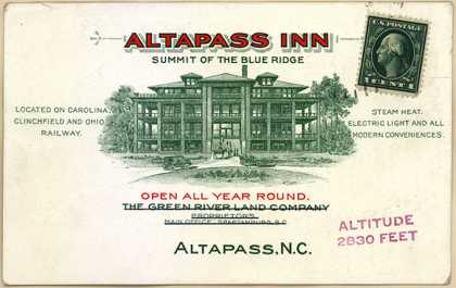 Green River Land Company's Resort – Altapass Inn (1914)