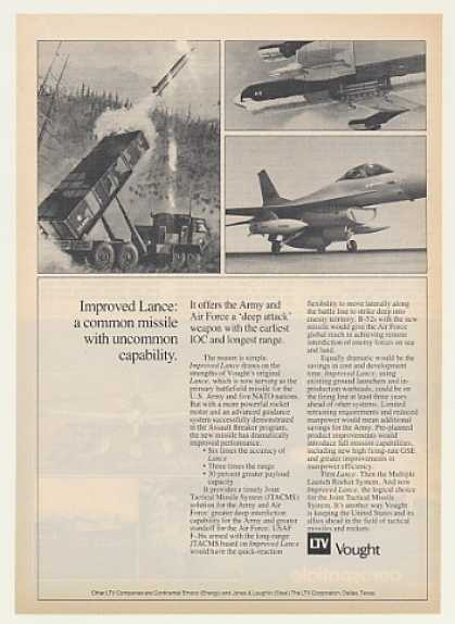 Army Air Force Vought Improved Lance Missile (1983)