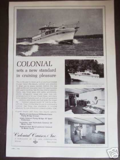 Colonial Cruiser 39' 43' Original Boat Photo (1966)