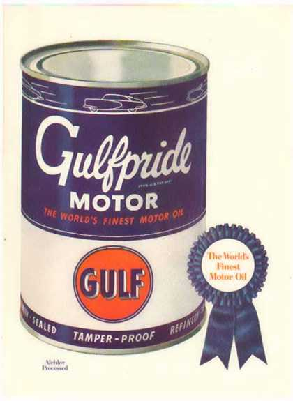 Gulfpride Motor Oil – The World's Finest (1949)
