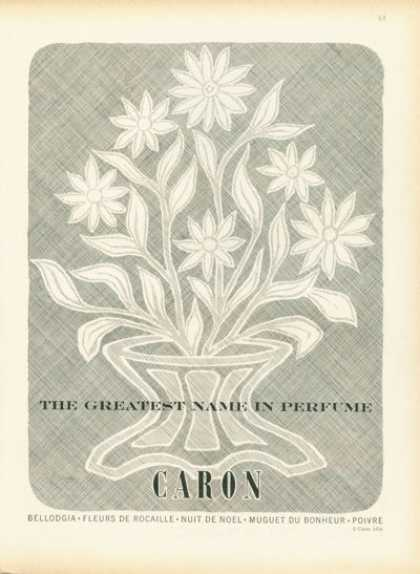 Caron Perfume Flower Bouquet Art (1958)