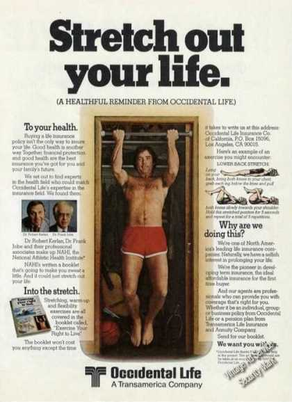 Occidental Life Stretch Our Your Life Health (1980)