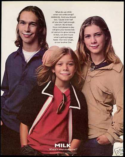 Hanson Brothers Photo Milk Mustache (1997)