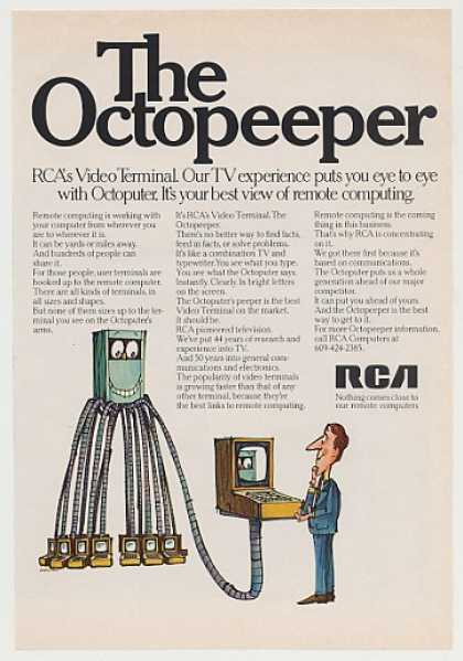 RCA Video Terminal Octopeeper Remote Computing (1969)