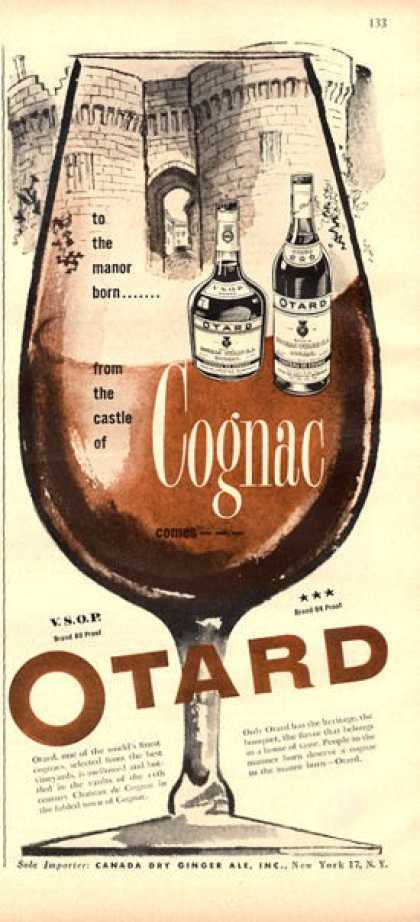 Otard Cognac Bottle (1951)