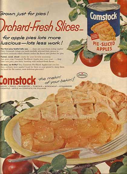 Comstock's Pie-Sliced Apples (1957)