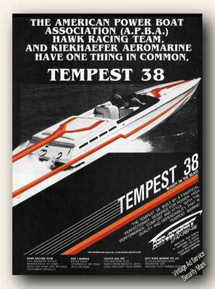 Tempest 38 Beauty In the Beast Advertising (1985)