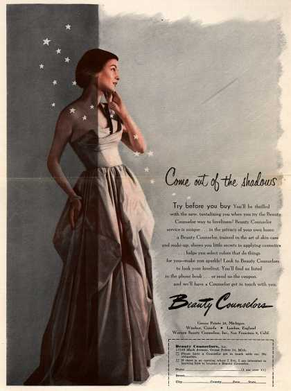 Beauty Counselors – Come out of the shadows (1950)