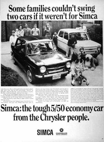 Chrysler Simca Sedan (2 Ads) (1967)