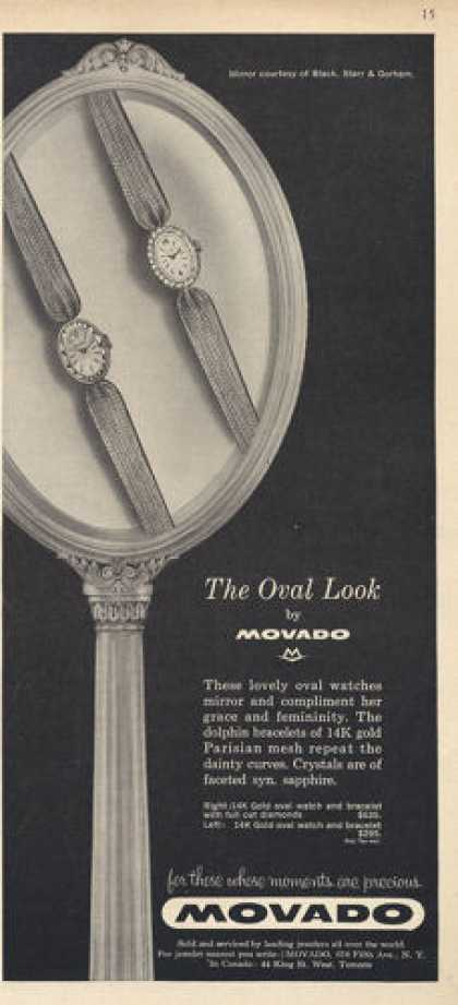 Movado Oval Dolphin Bracelets Pershian Watch (1960)