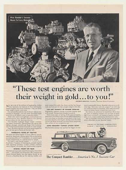 George Romney AMC Rambler Test Engines (1959)