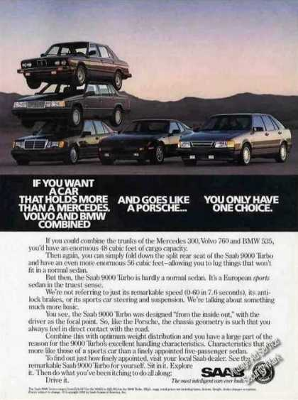 Saab Luxury Cars Piled Up (1988)