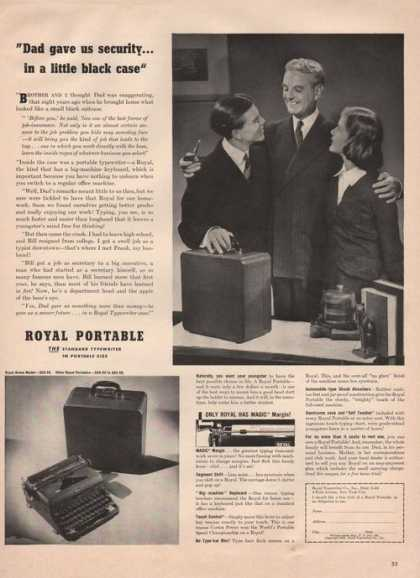 Royal Portable Typewriter (1941)