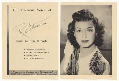 Rise Stevens Photo Booking 2-Page (1948)