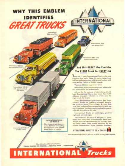 International Trucks – 6 Great New KB Model Trucks – Sold (1947)