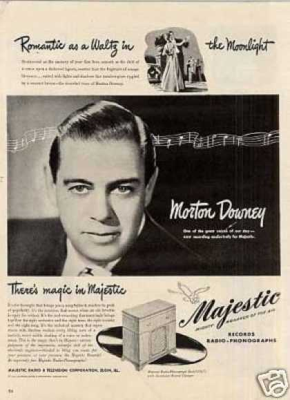 Majestic Radio Ad Morton Downey (1946)