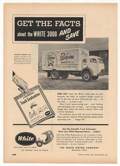 Parkview Markets White 3000 Delivery Truck (1952)