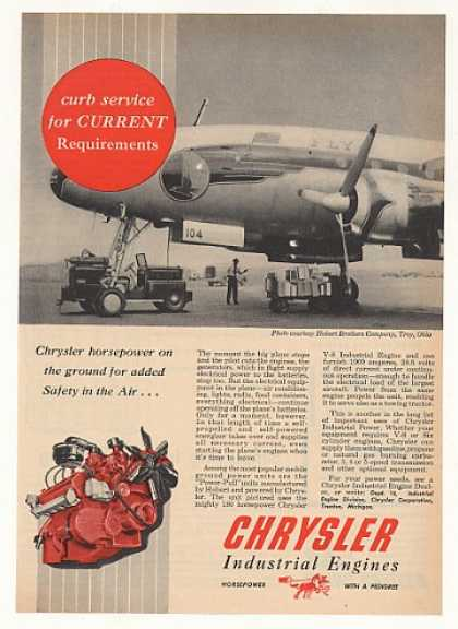 Hobart Aircraft Ground Power Chrysler Engine (1953)