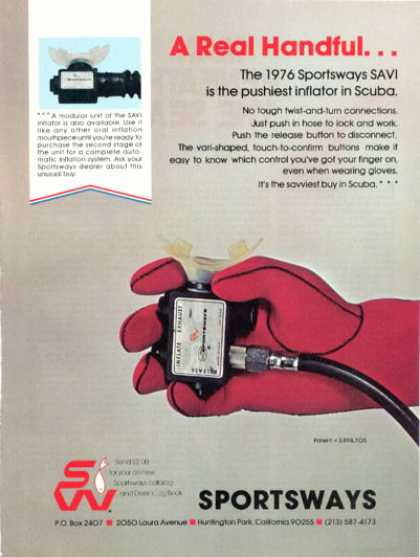 Sportsways Savi Scuba Diving Inflator Ad T (1976)