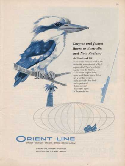 Orient Line New Zealand Australia Cruise Line (1957)