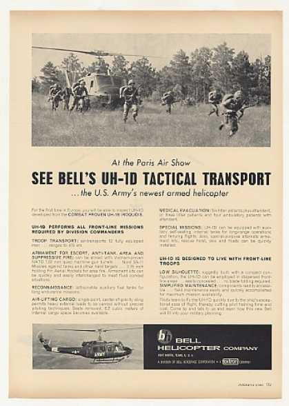 US Army Bell UH-1D Helicopter Photo (1963)