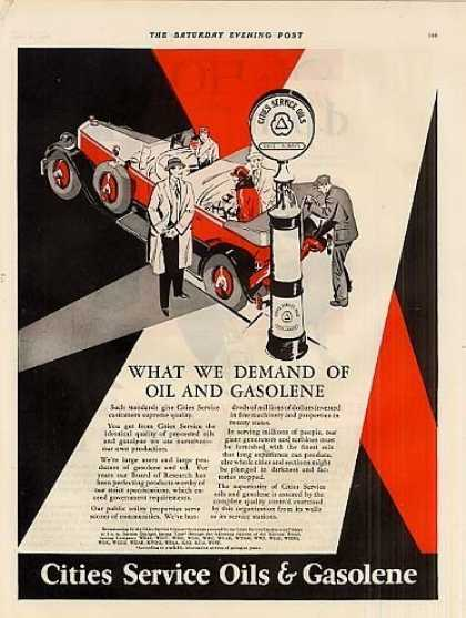 Cities Service Oil & Gasoline (1928)