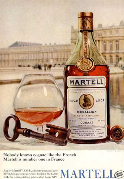 Martell Cognac Brandy Bottle (1964)