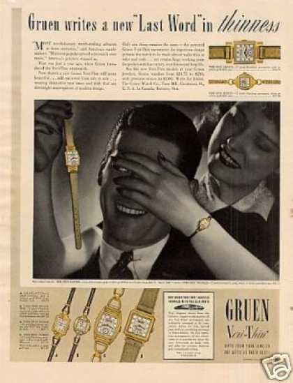 Gruen Veri-thin Watches (1940)