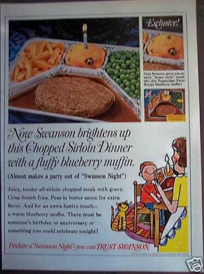 Swanson Sirloin Steak Dinner W/ Muffin (1968)