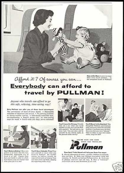 Pullman Train Railroad Afford To Travel (1956)