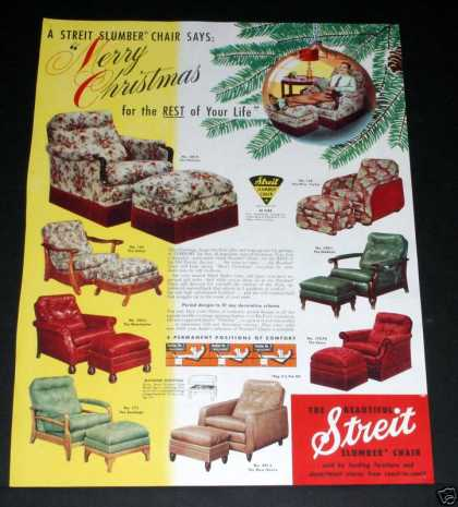 "Streit ""Slumber"" Chair, Xmas (1950)"