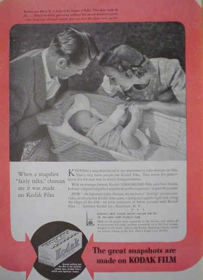 Kodak Film Great snapshots are made on Kodak Film (1940)